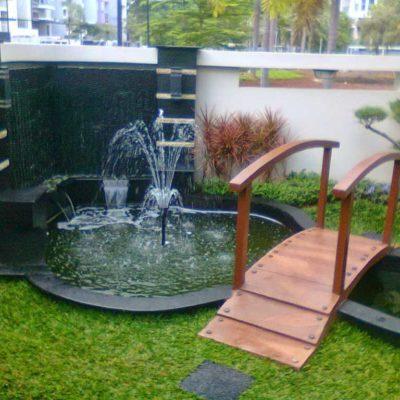 Desain Taman Air Mancur Minimalis